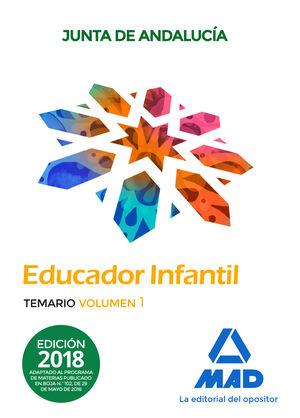 EDUCADOR INFANTIL. TEMARIO  VOLUMEN 1