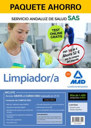 PAQUETE AHORRO Y TEST ONLINE GRATIS LIMPIADOR/A DEL SERVICIO ANDALUZ DE SALUD. A
