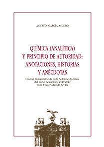 QUÍMICA (ANALÍTICA) Y PRINCIPIO DE AUTORIDAD: ANOTACIONES, HISTORIAS Y ANÉCDOTAS